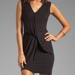Bailey 44 Medium Draped Ruched Black Dress